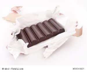 Schokolade als Sinnbild für die Inhaltsstoffe von Kakao.